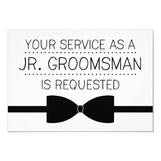 Junior Groomsman Request | Groomsmen 9 Cm X 13 Cm Invitation Card