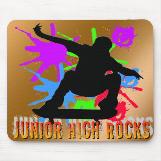 Junior High Rocks - Skateboarder Mouse Pad