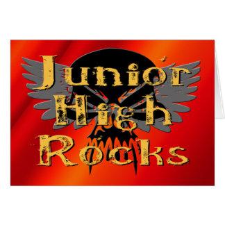 Junior High Rocks - Skull Wings Greeting Card