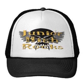Junior High Rocks - Skull Wings Mesh Hats