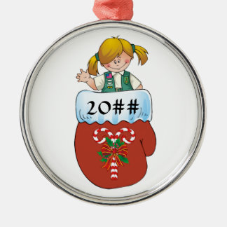 Junior Mitten Blonde Metal Ornament