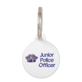 Junior Police Officer Pet Name Tag