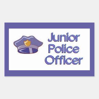 Junior Police Officer Rectangular Sticker