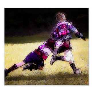 Junior Rugby - Art On Canvas Print