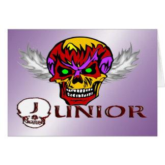Junior - Skull Wings Greeting Card