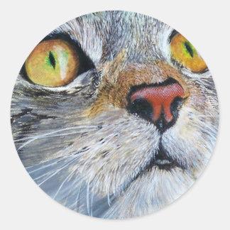 Junior the Cat Classic Round Sticker