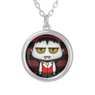Junior Vampire Silver Plated Necklace