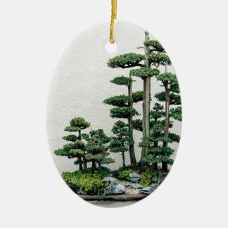 Juniper Bonsai Forest Ceramic Ornament