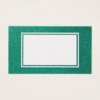 Juniper Green Glitter Customizable Business Card