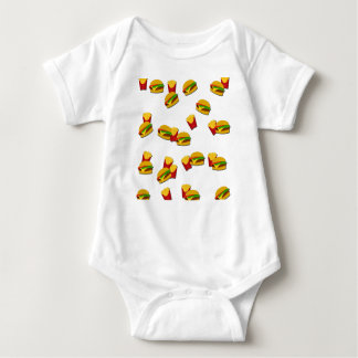 Junk food pattern baby bodysuit