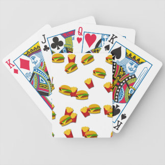 Junk food pattern bicycle playing cards
