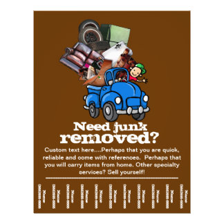 Junk removal business custom tear sheet flyer