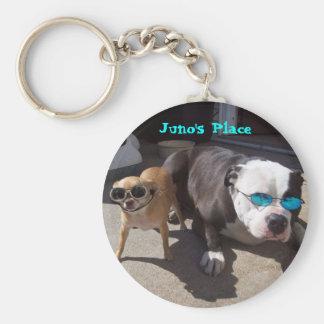 Juno and Nikki Basic Round Button Key Ring