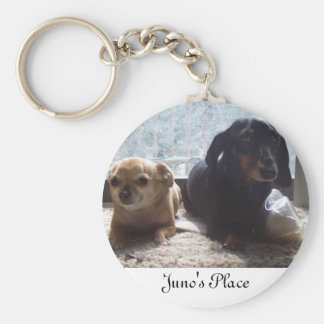 Juno and Scout Basic Round Button Key Ring