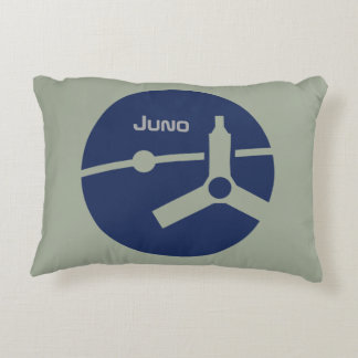 Juno mission patch throw pillow