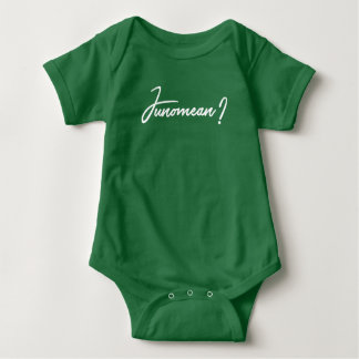 Junomean Baby Body Suit, Baby Shirt, Hunter Green Baby Bodysuit