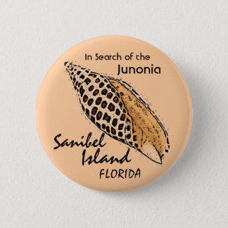 Junonia shell Sanibel Island humor button