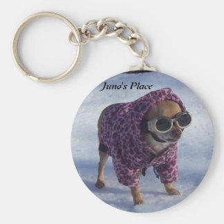 Juno's Winter Wonderland Basic Round Button Key Ring
