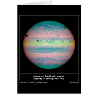 Jupiter&SatellitesInIR-2004-30 Card