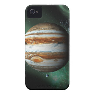 Jupiter and Earth Comparison Case-Mate iPhone 4 Case