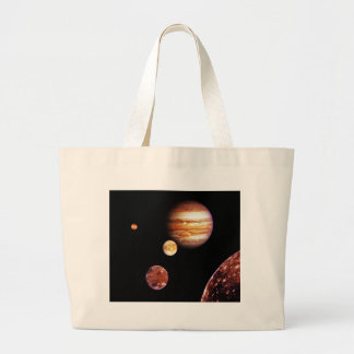 Jupiter and Her Moons Jumbo Tote Bag