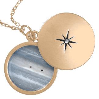 Jupiter and Io Round Locket Necklace