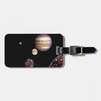 Jupiter and its Moons Tags For Luggage