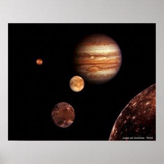 Jupiter and Satellites Poster