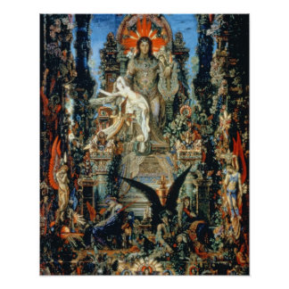 Jupiter and Semele, 1894-95 (oil on canvas) Poster