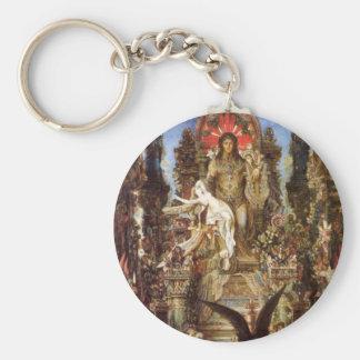 Jupiter and Semele Basic Round Button Key Ring