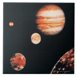 Jupiter and The Galilean Satellites Large Square Tile