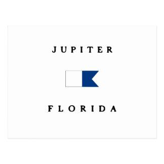 Jupiter Florida Alpha Dive Flag Postcards
