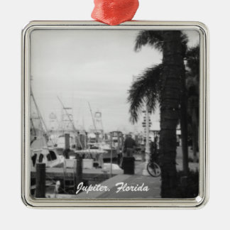 Jupiter, Florida Boat Dock Christmas Ornament
