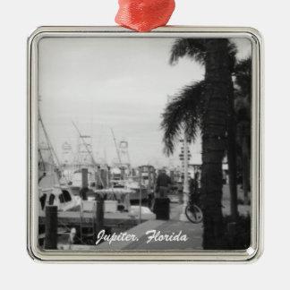 Jupiter, Florida Boat Dock Christmas Ornament