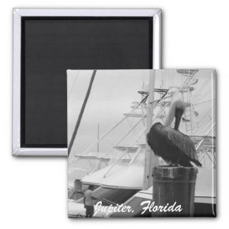 Jupiter, Florida Boats & Pelican photo Magnet