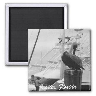 Jupiter, Florida Boats & Pelican photo Magnet