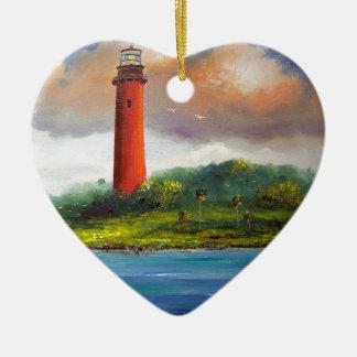 Jupiter Florida Lighthouse Ceramic Heart Decoration
