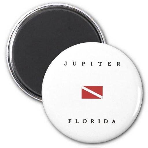 Jupiter Florida Scuba Dive Flag Fridge Magnets