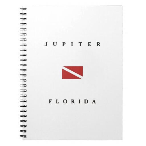 Jupiter Florida Scuba Dive Flag Notebook