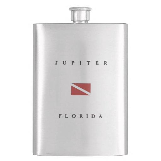 Jupiter Florida Scuba Dive Flag Hip Flasks