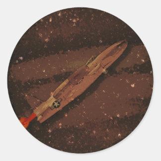 Jupiter Flyby Round Sticker