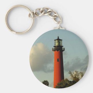 Jupiter Inlet Lighthouse Basic Round Button Key Ring