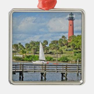 Jupiter Inlet Lighthouse Metal Ornament