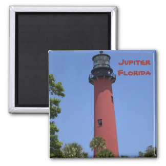 Jupiter Inlet Lighthouse Square Magnet