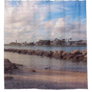 Jupiter Inlet, Winter Afternoon Shower Curtain