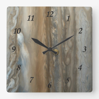 Jupiter & IO Square Wall Clock