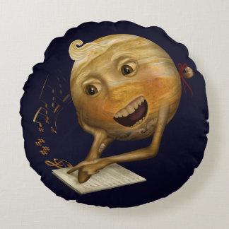 Jupiter learning to sing round cushion