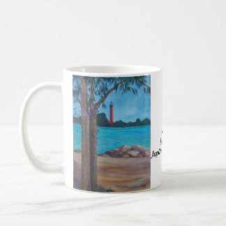 Jupiter Lighthouse Basic White Mug