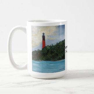 Jupiter Lighthouse Basic White Mug