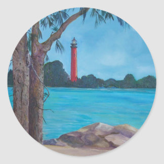 Jupiter Lighthouse Classic Round Sticker